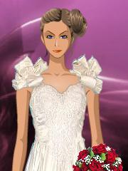 Barbie in rochie de  mireasa
