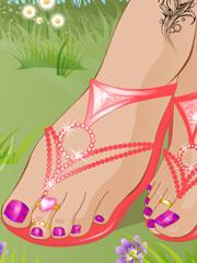 Joaca Barbie Sandale De Vara