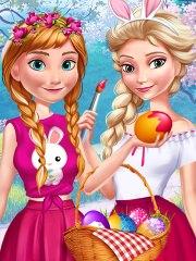 Barbie Anna si Elsa sarbatoresc Pastele