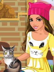 Barbie cafenea cu pisici