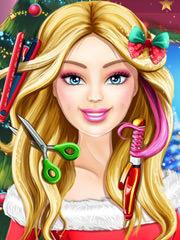 Joaca Barbie Coafura De Craciun