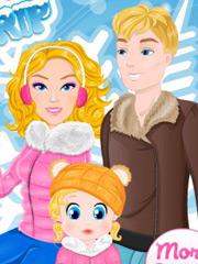 Barbie cu familia in vacanta