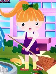 Barbie face curat la scoala