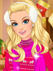 Barbie imbracata de Craciun