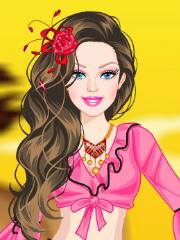 Barbie imbracata tiganca