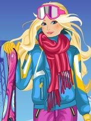 Barbie la ski