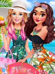 Barbie o viziteaza pe Moana