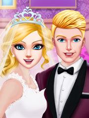 Barbie sarut la nunta