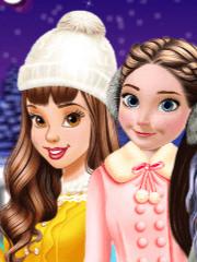Barbie si fetele la patinoar