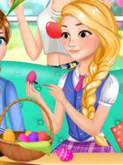 Barbie vopseste oua rosii