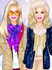 Barbie moda sclipitoare de iarna