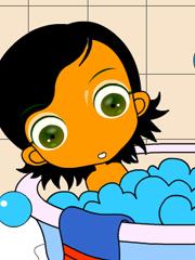 Coloreaza copilul in baie
