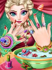 Elsa manichiura de iarna