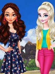 Moana Vs Elsa Prietene Cu Barbie