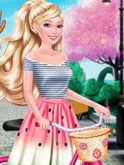 Pe bicicleta cu Barbie