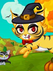 Joaca Pisicuta Costumata De Halloween