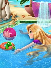 Rapunzel la piscina